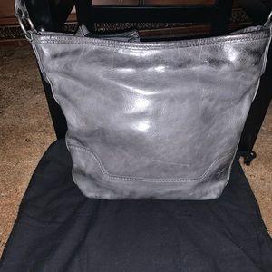 Frye Melissa Crossbody Hobo Charcoal Handbag